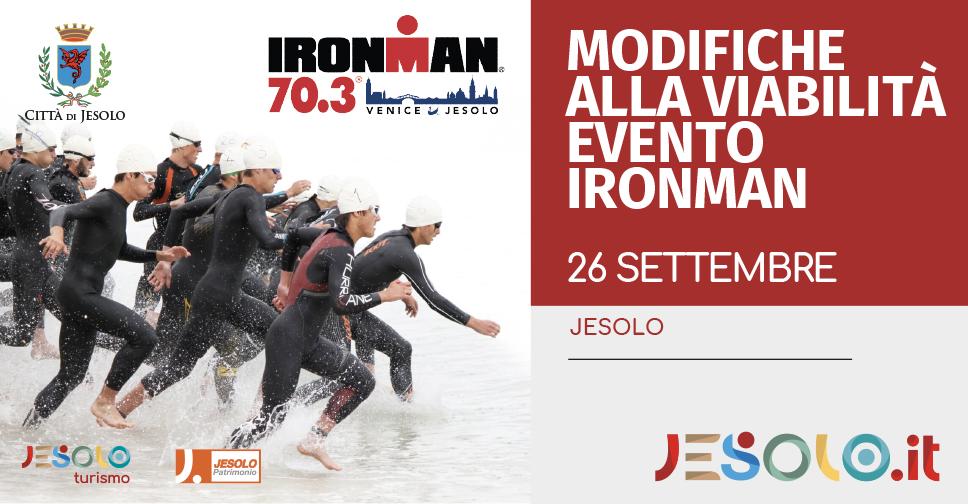 Modifiche alla viabilità per l'evento Ironman 70.3 Jesolo 26 settembre 2021