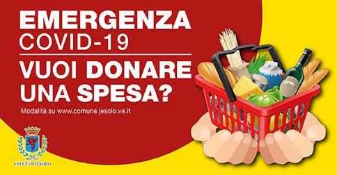 Comune di Jesolo Solidarietà alimentare emergenza Covid-19 Vuoi donare una spesa?