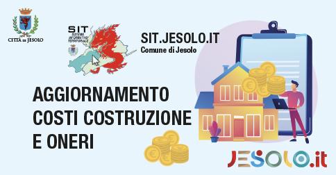 Aggiornamento Istat Costi costruzione e Oneri di urbanizzazione- Jesolo 2021