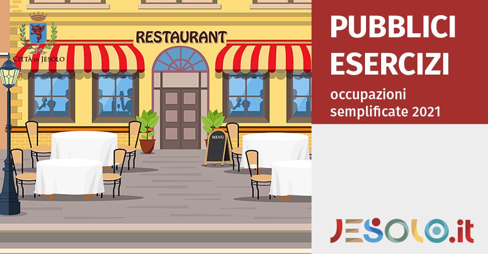 Richieste occupazioni semplificate pubblici esercizi Jesolo - Anno 2021
