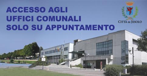 Comune di Jesolo accesso agli uffici comunali
