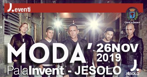 Modà in concerto a Jesolo il 26 novembre 2019
