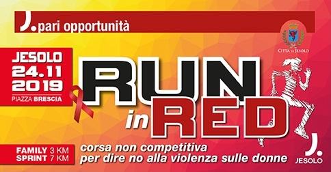 Run in red Giornata mondiale contro la violenza sulle donne-Jesolo 24 novembre 2019