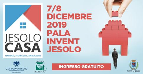 Jesolo Casa, tendenze, tecnologie, innovazione al Palainvent il 7 e 8 dicembre 2019