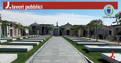 Nuova pavimentazione del cimitero comunale di Jesolo