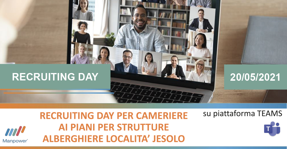 Manpower Recruiting Day: Cameriere ai piani