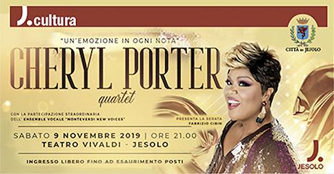 Cheryl Porter Quartet al teatro Vivaldi di Jesolo il 9 novembre 2019