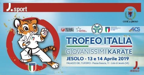 Trofeo italia Giovanissimi Karate a Jesolo il 13 e 14 aprile 2019
