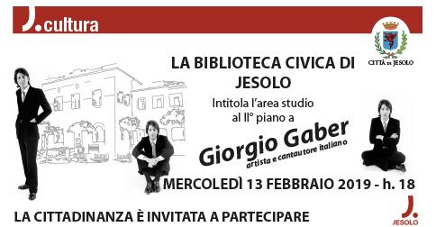 Intitolazione sala biblioteca di Jesolo a Giorgio Gaber