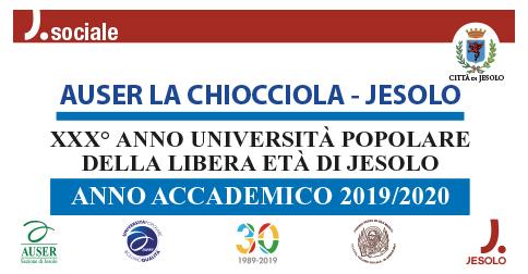 Università Popolare della libera età di Jesolo anno accademico 2019-2020