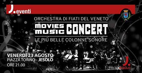 Orchestra di fiati del Veneto: Movies Music Concert in piazza Torino a Jesolo il 23 agosto 2019