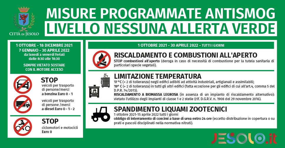 Misure di contenimento degli inquinanti atmosferici a Jesolo