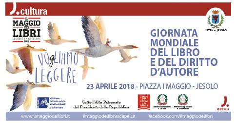 Giornata mondiale del libro e del diritto d'autore Jesolo 23 aprile 2018 -piazza I maggio
