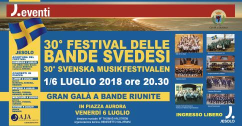 30° Festival delle bande svedesi a Jesolo dal 1° al 7 luglio 2018