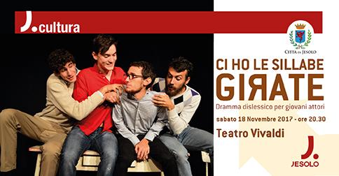 dramma dislessico per giovani attori la teatro Vivaldi di Jesolo sabato 18 novembre 2017