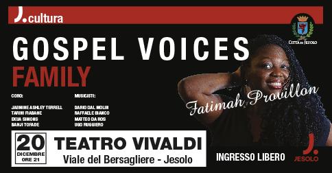 Gospel Voices Family al teatro Vivaldi di Jesolo il 20 dicembre 2018