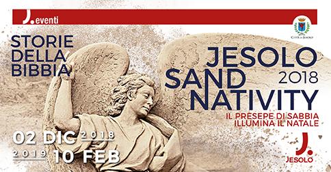 Jesolo Sand Nativity 2018 in piazza Marconi, dal 2 dicembre 2018 al 10 febbraio 2019