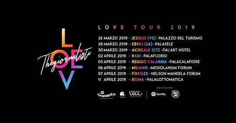 Thegiornalisti Love tour 2018 al Palazzo del Turismo di Jesolo il 26 marzo