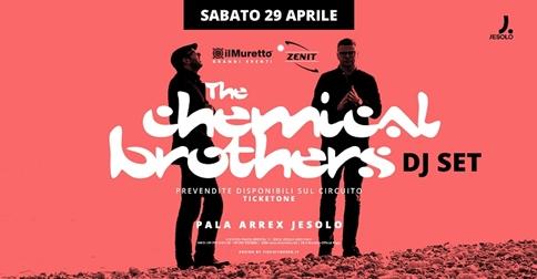 The Chemical Brothers al Pala Arrex di Jesolo sabato 29 aprile 2017