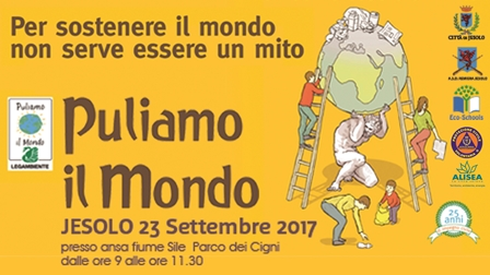 puliamo il mondo a Jesolo il 23 settembre 2017