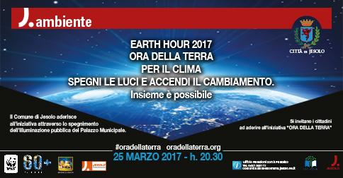 la Città di Jesolo partecipa a Earth Hour 2016-Ora della terra Sabato 19 marzo 2016 alle 20.30