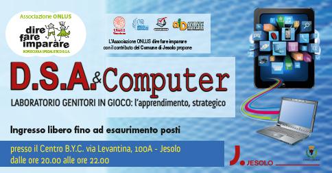 incontri per genitori sul tema D.S.A. e computer a Jesolo  febbraio e marzo 2016