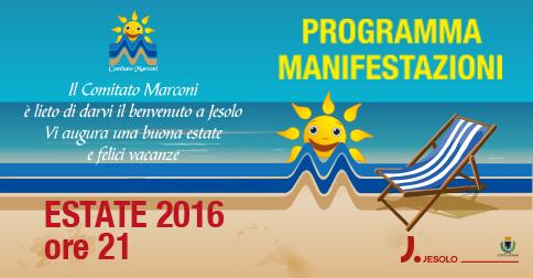 Eventi dell'estate nelle piazze Marconi, Drago e Carducci a Jesolo