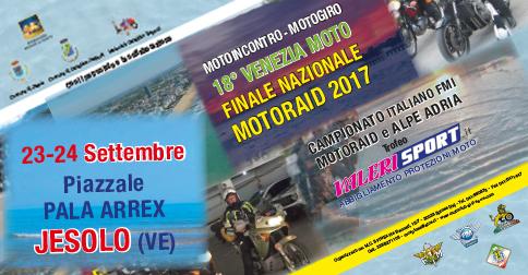 Motoraid e motoincontro Finale Nazionale Motoraid 2017 a Jesolo, Pala Arrex, 23 e 24 settembre 2017