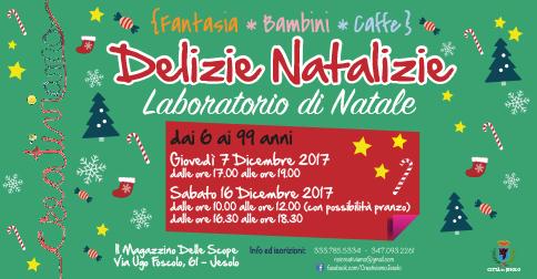 Delizie Natalizie: laboratorio di Natale a Jesolo, il 7 ed il 16 dicembre 2017