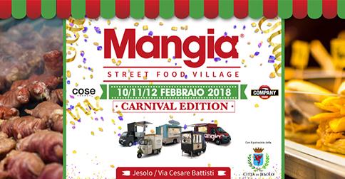 Mangia Street Food Festival a Jesolo dal 10 al 12 febbraio 2018, via C. Battisti