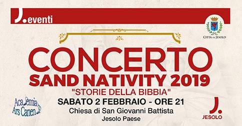 Concerto Sand Nativity 2019 a Jesolo il 2 febbraio