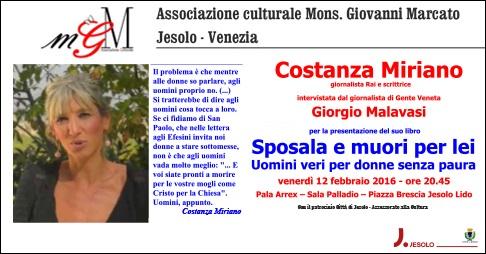 Costanza Miriano a Jesolo presenta il suo libro. La intervista Giorgio Malavasi