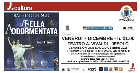 La Bella Addormentata...in terra d'Otranto. Balletto in due atti al Teatro Vivaldi di Jesolo il 7 dicembre 2018