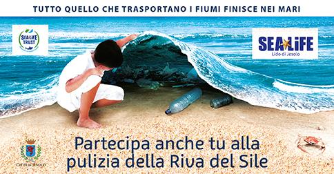 Sea Life a Jesolo - pulizia della riva del Sile