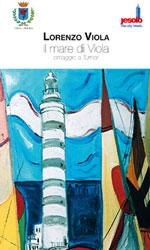dipinto con faro e vele colorate
