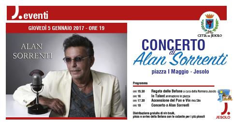 Alan Sorrenti a Jesolo il 5 gennaio 2017 alle 19