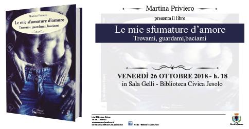 Le mie sfumature d'amore: Martina priviero presenta il suo libro presso la Biblioteca Civica di Jesolo