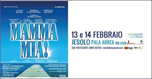 Mamma mia! il Musical al pala Arrex di Jesolo il 13 e 14 febbraio 2018