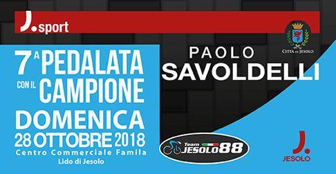 Paolo Savoldelli partecipa alla Pedalata con il Campione, a Jesolo domenica 28 ottobre 2018
