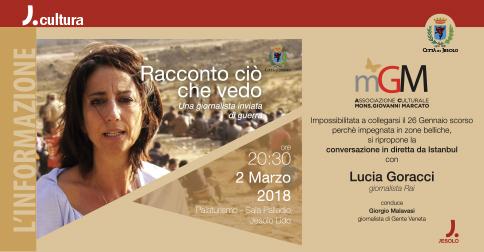 Racconto ciò che vedo- Conversazione con Lucia Goracci 2 marzo 2018, Jesolo