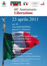 locandina 66° anniversario Liberazione