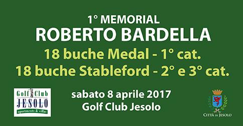 1° Memorial Roberto Bardella, Golf Club Jesolo, 8 aprile 2017
