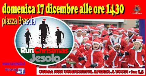 Run Christmas Jesolo domenica 17 dicembre 2017 da piazza Brescia