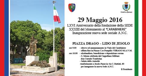 Anniversario della Fondazione della Sede Carabinieri