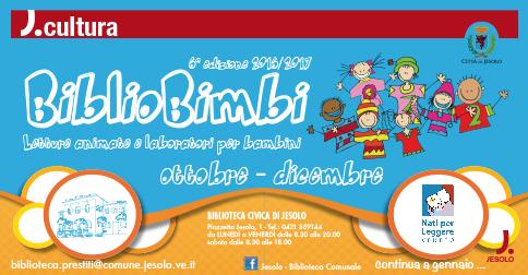 BiblioBimbi letture animate e laboratori per bambini Jesolo ottobre-dicembre 2016