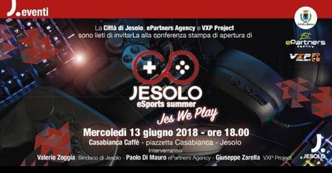 Jesolo eSports summer 13 giugno conferenza stampa al Casabianca Cafè h 18