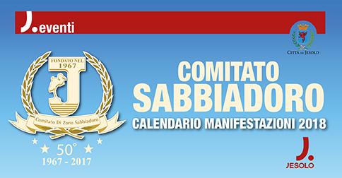 Calendario manifestazioni comitato Sabbiadoro 2018