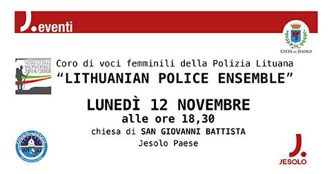 Coro di voci femminili della Polizia Lituana  a Jesolo, Chiesa di S. Giovanni Battista, 12 novembre 2018