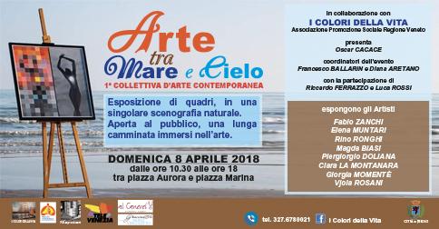 1^ collettiva d'arte contemporanea a Jesolo domenica 8 aprile 2018
