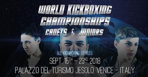 Campionati mondiali di kickboxing - Jesolo 15-23 settembre 2018